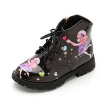 Детская обувь для девочек; ботинки принцессы для девочек; короткие ботинки; детская обувь с героями мультфильмов; детские кожаные ботинки ...(Китай)