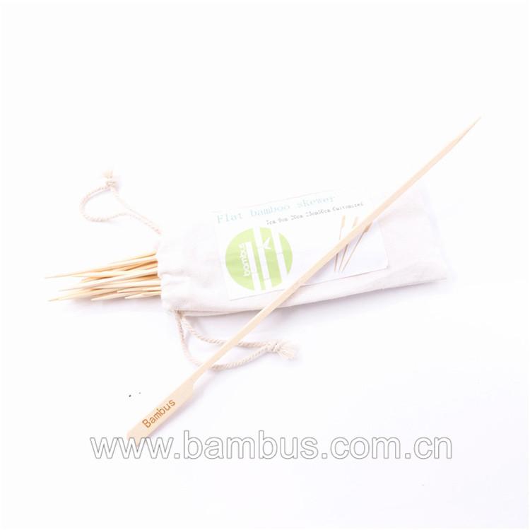 Bambus Bbq Naald Goedkoopste Prijs Fabriek Bieden Kebab Grillen Vlees Vlees Machine Platte Spies Sticks Voor Verkopen