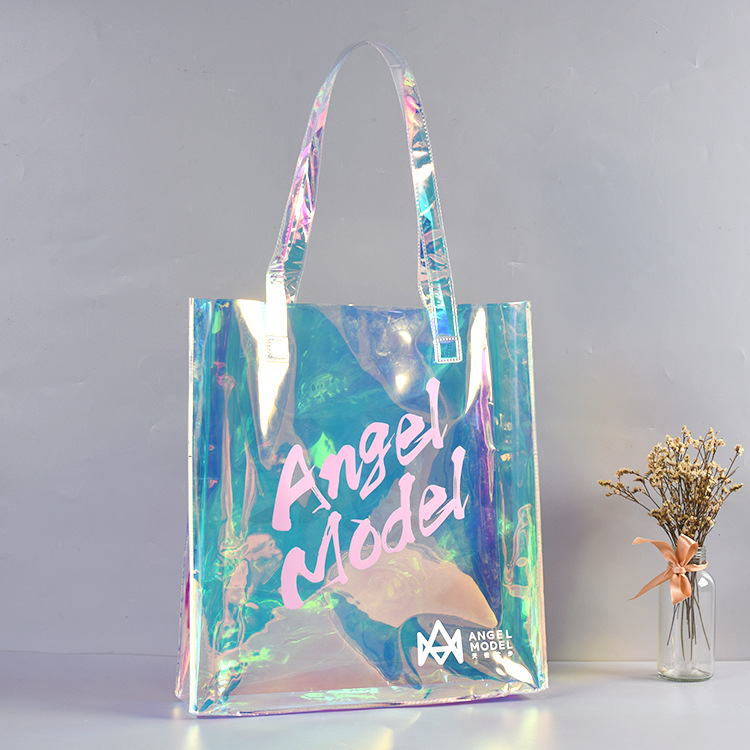 Raymond Custom Clear Pvc Bags Transparent Bag Shopping Tote Bag Pvc Bags Women Handbags Laser Pvc Bag For Ladies