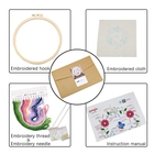 Hand Made Embroidery Crafts Kits Amazon Best Seller Cross Stitch Tool Beginner Kit Creative Patterns DIY Hand Made Punch Needle Embroidery Starter Kits