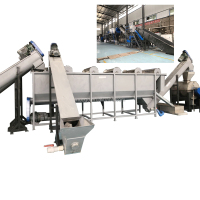 waste plastic recycling production line / pet bottle recycling machine