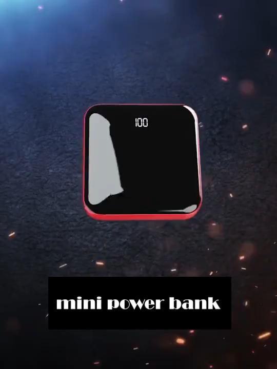 2020 Pabrik Langsung Menjual Baru Fashion Cermin Ultra Slim Smart Grosir Murah Mini Power Bank 20000Mah, power Bank 10000Mah