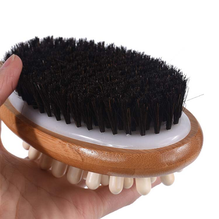 2020 Custom LOGO Hot selling eco-friendly double sides wood Beauty Brush sets Beauty personal care Bathroom brush