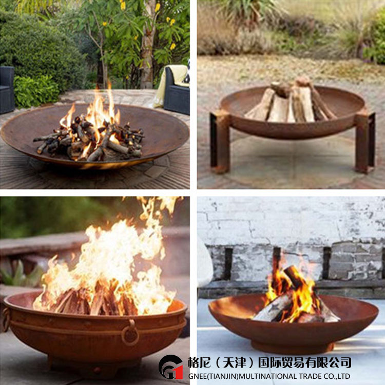 Garden Round Outdoor Corten Steel Fire Bowl