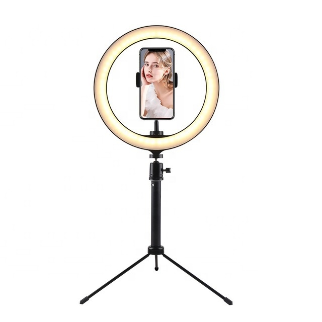 Fast Delivery Amazon Hot Seller 26cm 10 inch Ring Light LED Photo Video Ring Light with Tripod Stand Retractable