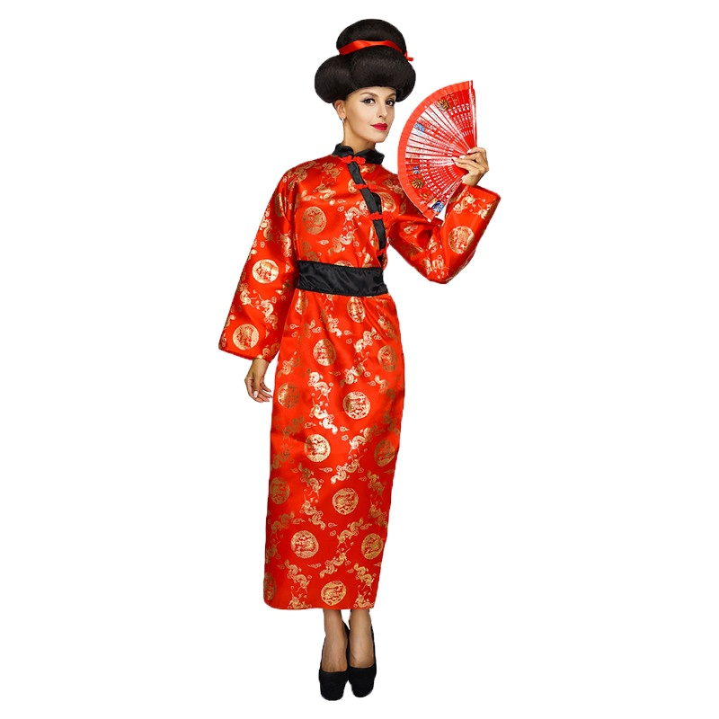 Best Selling Carnival Party Red Chinese Traditional Dress Performance Cosplay Tang Suit For Women