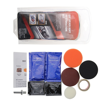 Headlight Restoration Kit,Headlamp Polishing Paste Kit,Headlight Restoration Lens Cleaning Tools for Car Care