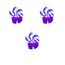 5 шт. имитация смолы леденец амулеты еда Конфеты Смола кулон каваи Шарм для изготовления ювелирных изделий серьги крафт(Китай)