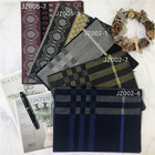 Custom elegant two-color comfortable men's scarf winter warm checkered striped scarf