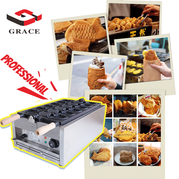 Commercial Stainless Steel Electric Waffle Taiyaki Maker <strong>Grill</strong> Animal Shapes Electric <strong>Fish</strong> Taiyaki <strong>Machine</strong>