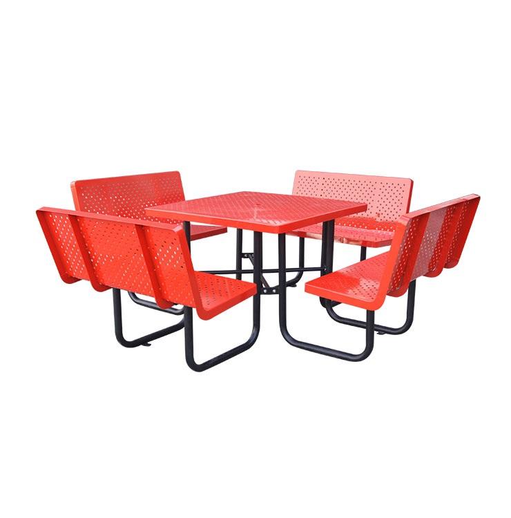 perforated iron garden patio furniture garden patio table and seats