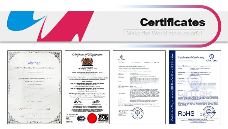 Yüksek parlak renkli fotokopi toneri tozu geliştirici CMYK uyumlu Xerox DocuColor 240 242 250 252 260