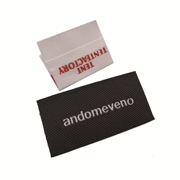 High Quality  Brand  Garment Tag Centerfold Custom Clothing Woven Label