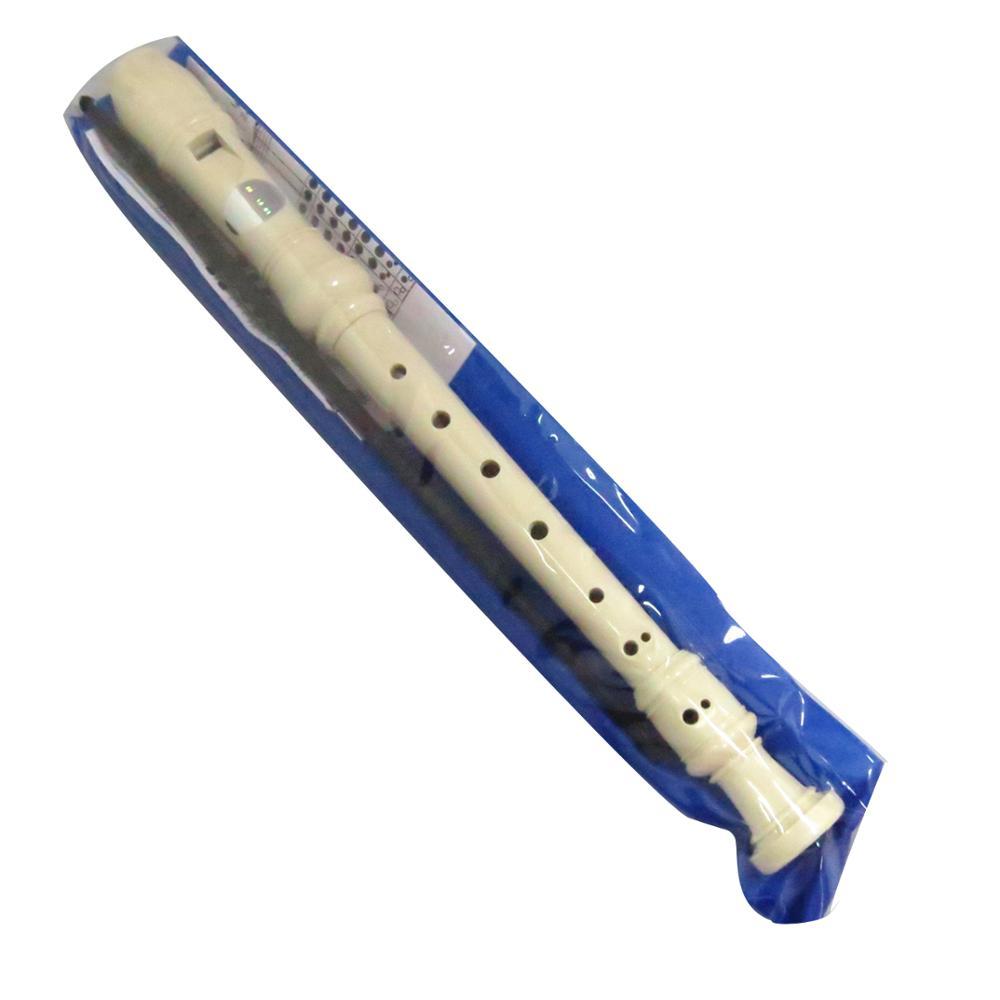 8 отверстий Белый ABS пластиковый музыкальный инструмент китайская флейта для детей с ПВХ сумкой