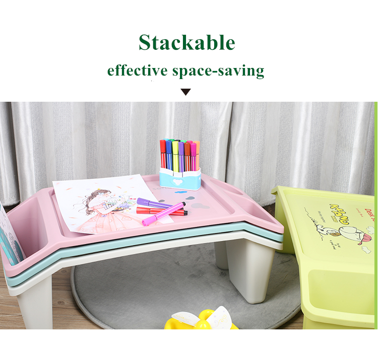 Children plastic study table Children study play table Kids desk Baby play Table