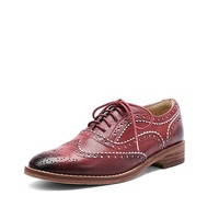 China Handmade Men Dress Shoes British Style Genuine Leather Flat Brogue Women Shoes