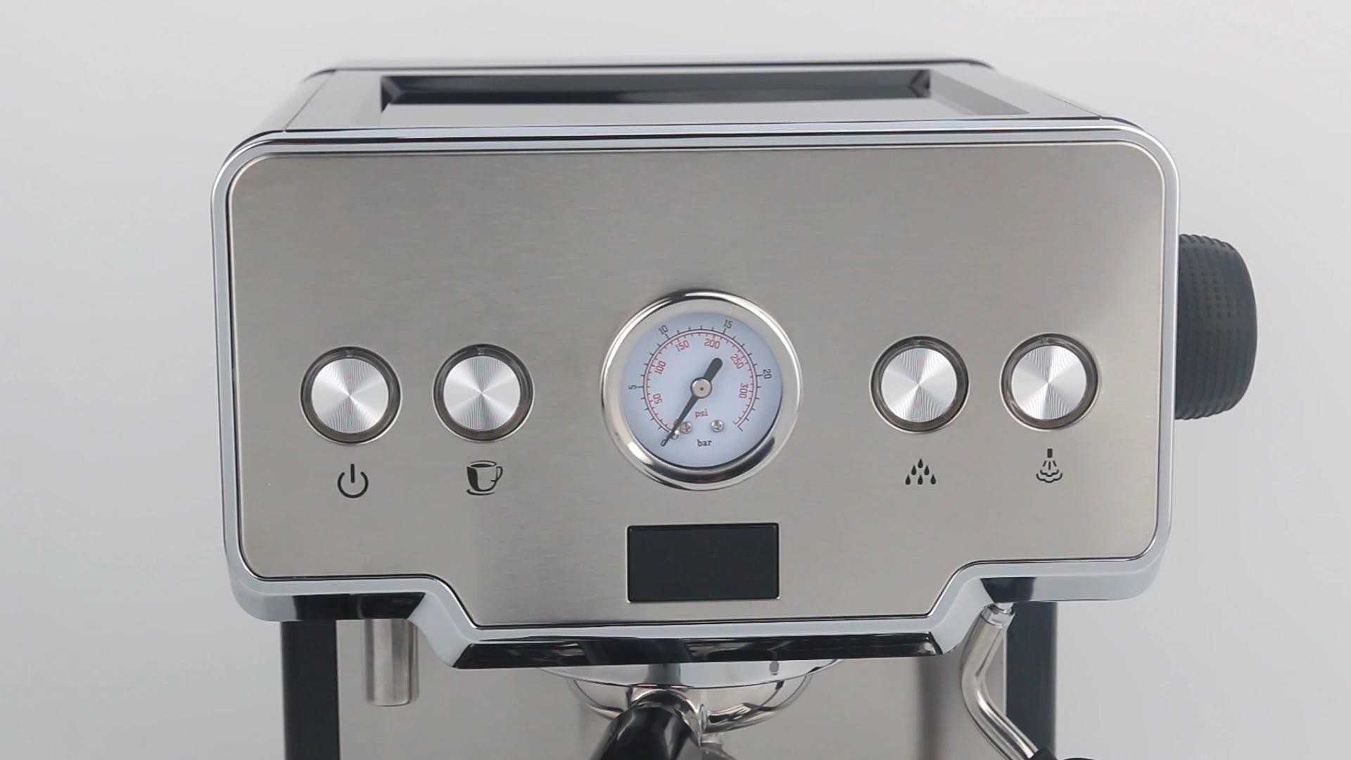 GZKITCHEN 15 Bar Bahasa Italia Semi Otomatis Mesin Pembuat Kopi Cappuccino Susu Bubble Maker Mesin Kopi Espresso untuk Rumah