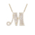YMnecklace-01067 Xuping 925 silver imitation jewellery necklace M letter hot sale iced out pendant necklace
