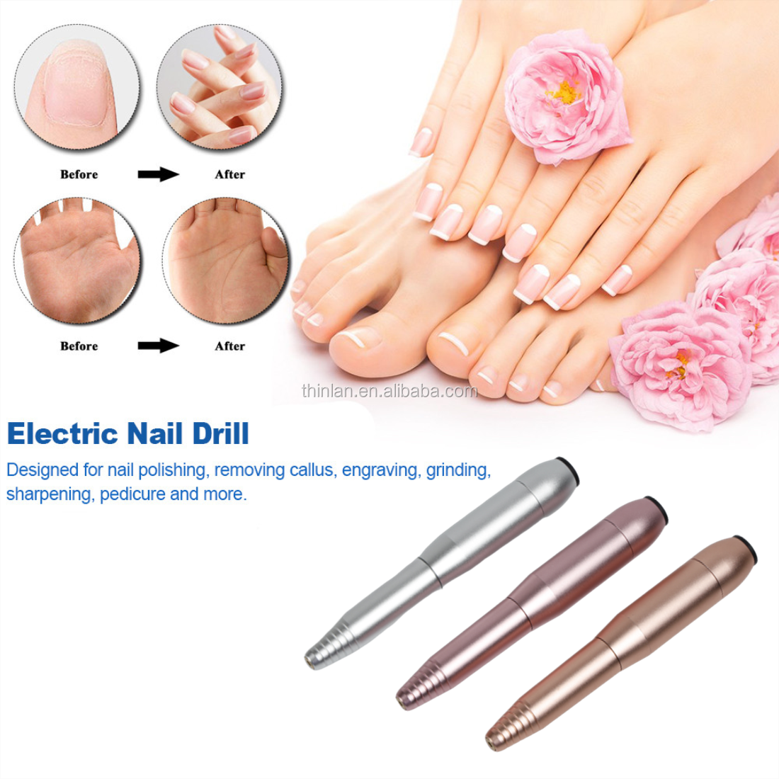 20000RPM Professional Electric Nail Drill Machine Nail Art Pen Pedicure Nail File