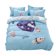 <span class=keywords><strong>Quilt</strong></span> beddengoed <span class=keywords><strong>set</strong></span> kids cartoon bedsheet bedding <span class=keywords><strong>set</strong></span> 100% katoen blauw vliegtuig