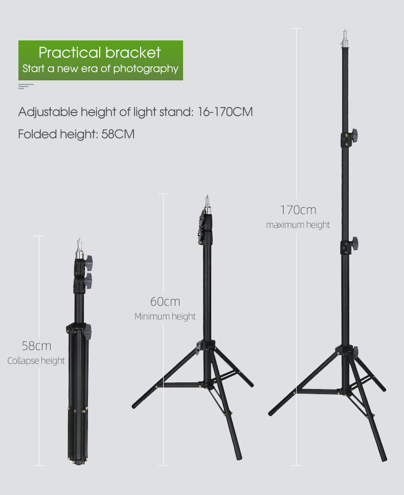 Factory Direct sales high quality 1.7 m black and white anchor tripod