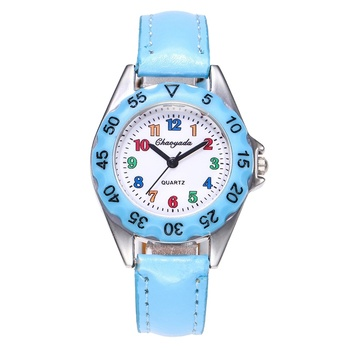 WJ-7169 Vogue Factory Hot Sales Children Watches Colorful Kids watch Quartz Leather Wrist Watches