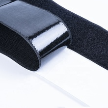 25 Mm * 25 M Self Adhesive Hitam Bahan Plastik Tape <span class=keywords><strong>100</strong></span> Mm Ritsleting Praktis Polyester Hook dan Loop Kain tape