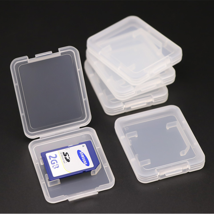 Plastic Packing Storage TF CF Card Holder 7.5mm SD card case for packaging <strong>micro</strong> SD card adaptor