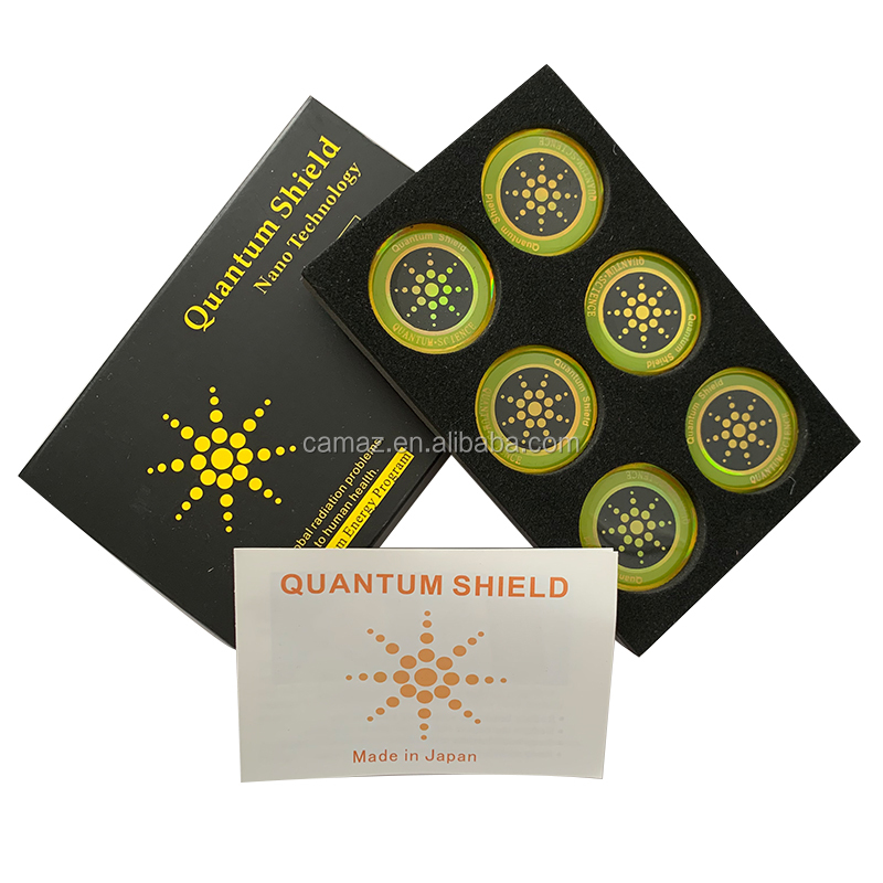 Wholesale bio quantum energy anti radiation Sticker for mobile phone . Design your logo for you.