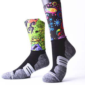 Cycling socks Customized sports socks OEM unique compression novelty Printing on stockings sublimation socks