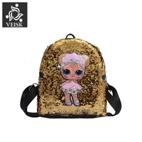 Children's Cartoon Anime Backpack For School Cute Doll Designs Mini Backpack With Sequins New Year Birthday Surprise Gift