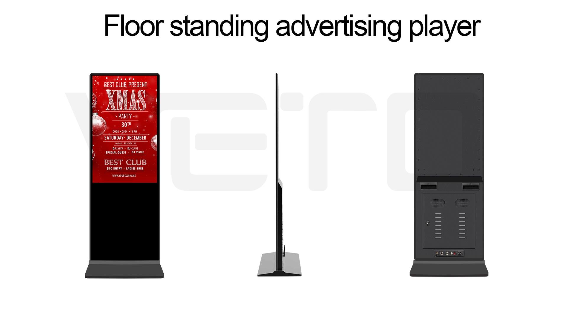 43 49 55 65 인치 플로어 스탠드 lcd 디스플레이 터치 스크린 실내 안드로이드 광고 tv 정보 토템 소매 디지털 간판