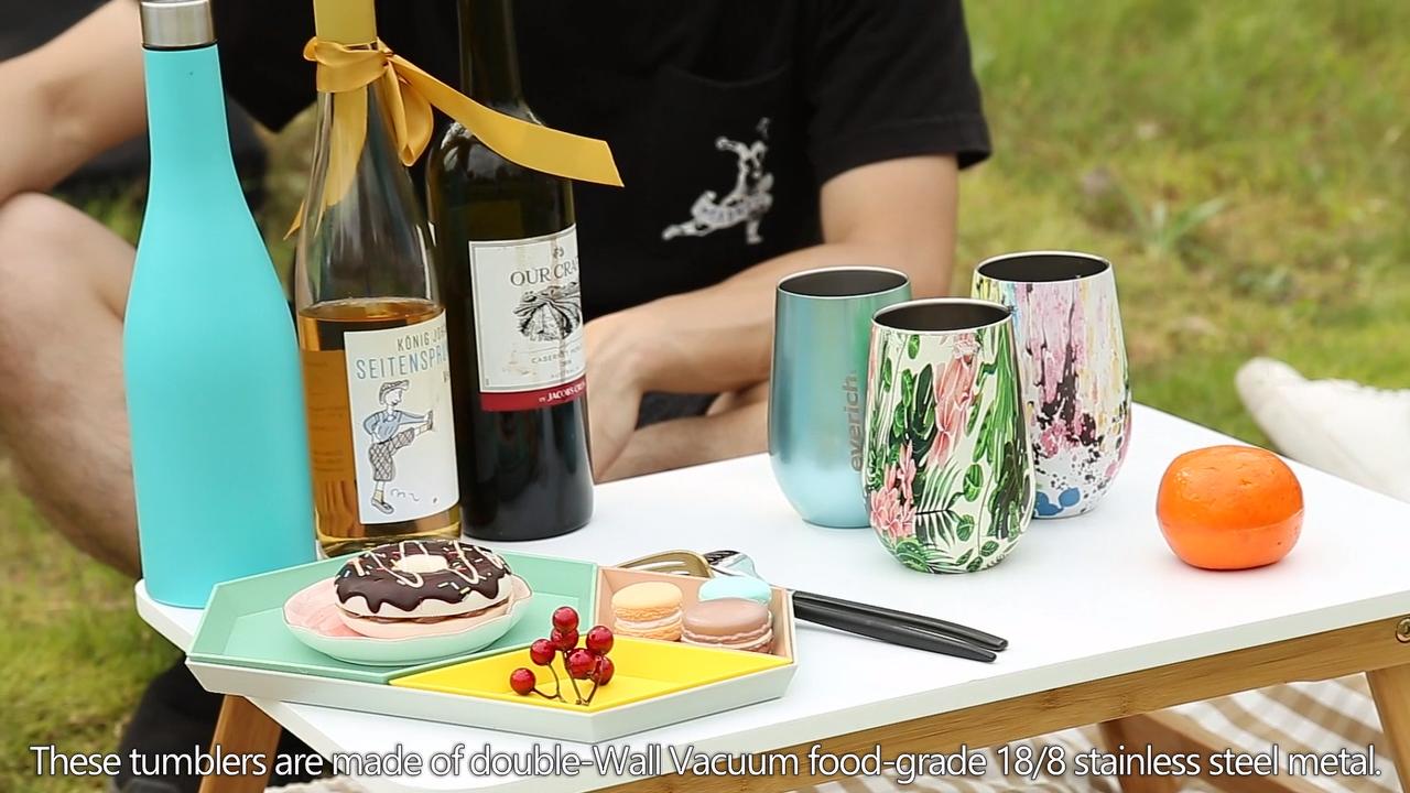 2020 in acciaio inox vino bicchiere set di doppia parete coibentata 17oz bottiglia con due 12 once bicchieri di vino 500ml bottiglia di vino rosso set