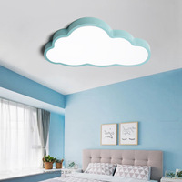 "20""/36W/24""/48W Blue Pink White Ultra-thin lovely Cloud shape LED Ceiling Light for Children Bed Room"