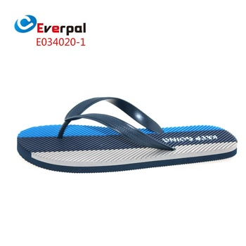 2019 Men Outdoor Navy Rubber Sole Flip Flops