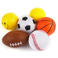 Ready To Ship Pu Foam Stress Ball Logo Customized Foam Toy Anti Stress Ball With Free Sample