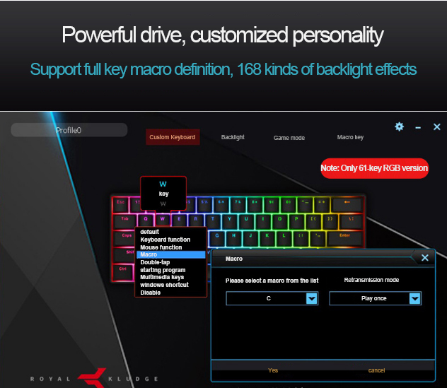 RK61 supports multiple Bluetooth devices wireless gaming mechanical keyboard
