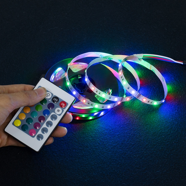 smart led light strip waterproof, 24v addressable rgb led strip 5050 rgb waterproof, led strips lights 5m smd