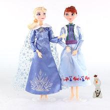 Дисней аниме Холодное сердце 2 Эльза игрушки Анна 30 см Замороженные 12 суставов подвижная фигурка Олаф куклы подарки на день рождения игрушк...(Китай)