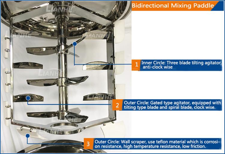 गुआंग्डोंग नई कॉस्मेटिक क्रीम बनाने की मशीन Homogenizer वैक्यूम मिक्सर