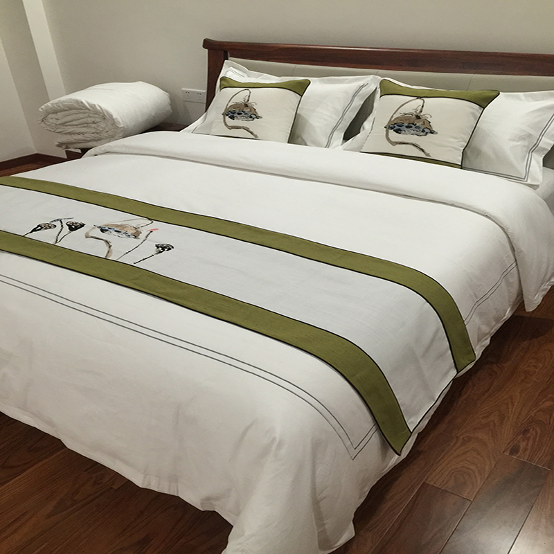 200 Thread Count Plain White Luxury Hotel Bed Sheet Duvet Cover Set 3 Piece Bedding Set
