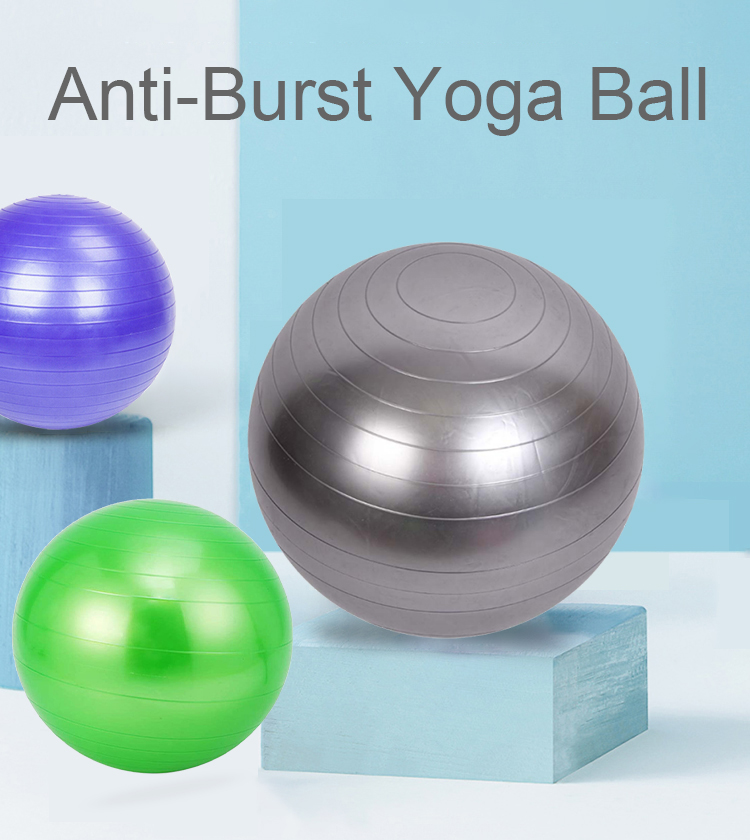 Eco-Friendly 65cm Anti-Burst And Non-Silp Yoga Ball For Fitness Exercise And Pregnancy Gymnastics