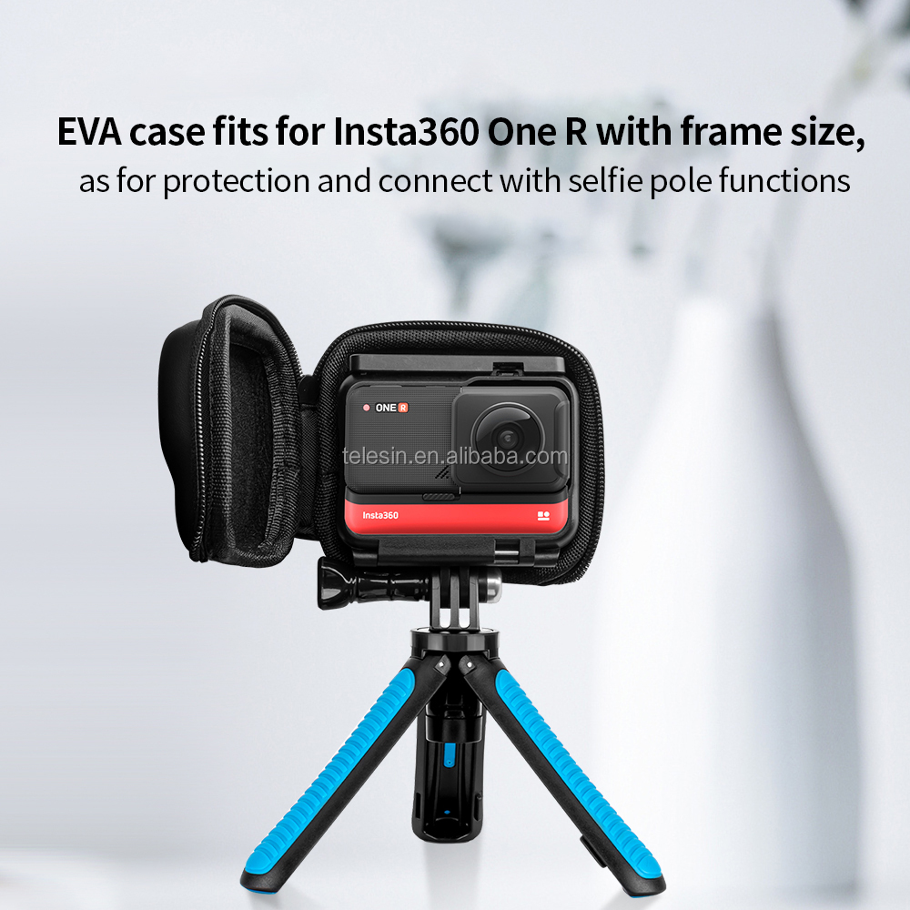 Portable PU Carrying Case Protective EVA Bag Pouch for Insta360 ONE R Action Camera