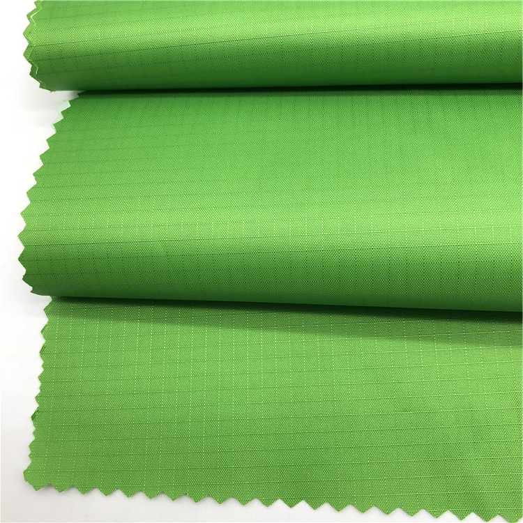 100% POLYESTER 210T RIBSTOP  TAFFETA WITH PU MILKY COATED FABRIC
