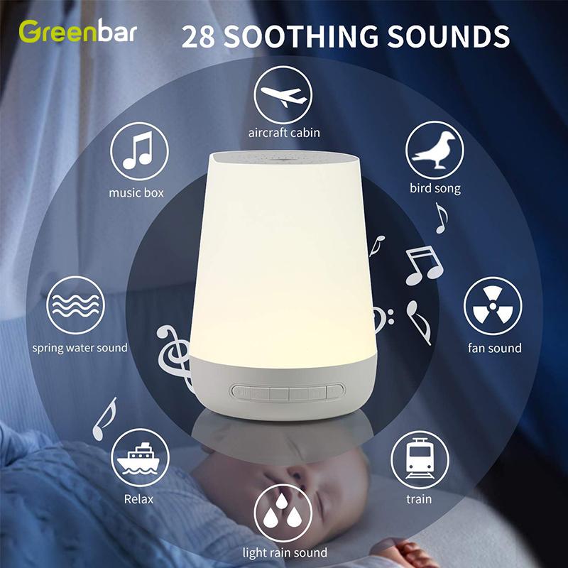 Branco Máquina de Ruído Sono Ajuda Dispositivo Melhora A Dormir com os Não-looping Música Suave Sons e Temporizador