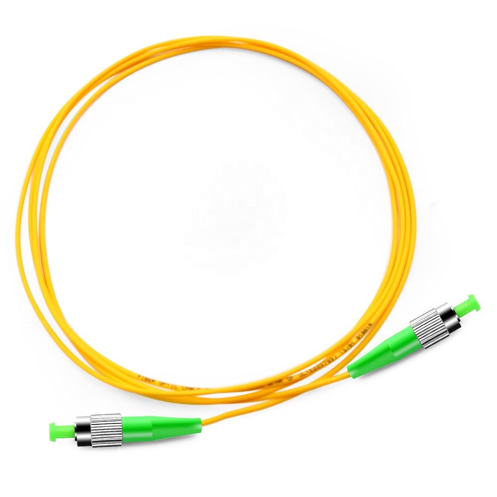 FC APC to FC APC 9/125 Simplex LSZH Fiber Optic Patch Cord from TTI Fiber