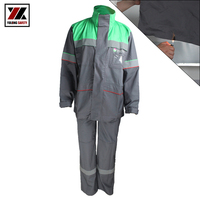 High Temperature Protective Suits Fire Proof Equipment 100% Cotton Winter Fr Reflective Stripe Suit