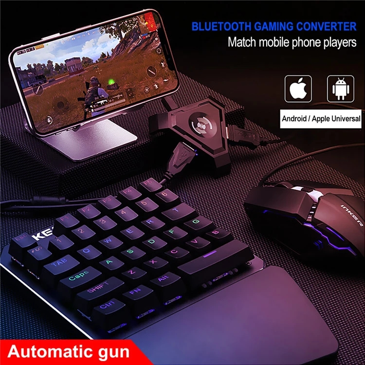 Mobile Gaming Keyboard and Mouse Adaptor for iPhone/iPad iOS/Android OS Compatible with Call of Duty Mobile PUBG Mobile Games Co