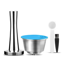 Новый многоразового Кофе капсулы для Dolce Gusto многоразового пользования Нержавеющаясталь фильтр чашка для растворимый кофе-машина Crema чайн...(Китай)