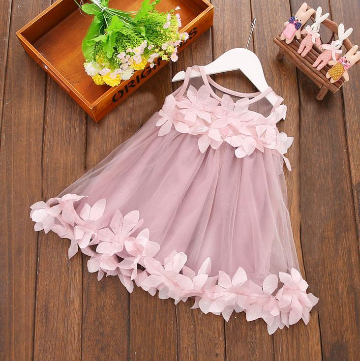 wholesale 2020 new baby girls dresses summer pink baby girls dresses